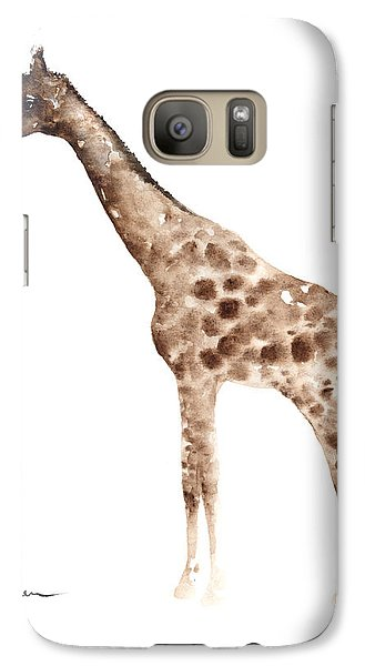 Giraffe Watercolor Art Print Painting African Animals Poster Galaxy Case by Joanna Szmerdt