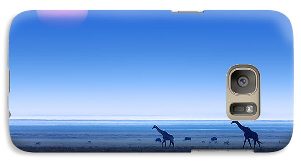 Giraffes On Salt Pans Of Etosha Galaxy Case by Johan Swanepoel