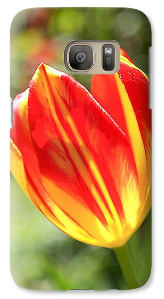 Glowing Tulip Galaxy Case by Rona Black