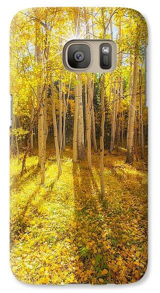 Golden Galaxy S7 Case by Darren  White