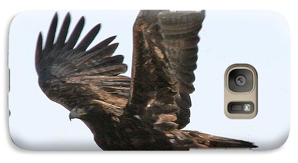 Galaxy Case featuring the photograph Golden Eagle Takes Off by Bill Gabbert