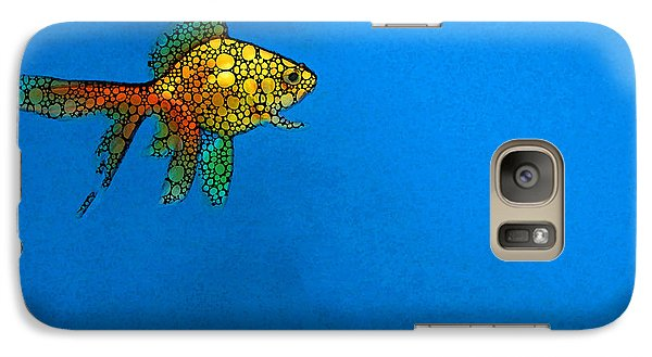 Goldfish Study 4 - Stone Rock'd Art By Sharon Cummings Galaxy S7 Case by Sharon Cummings