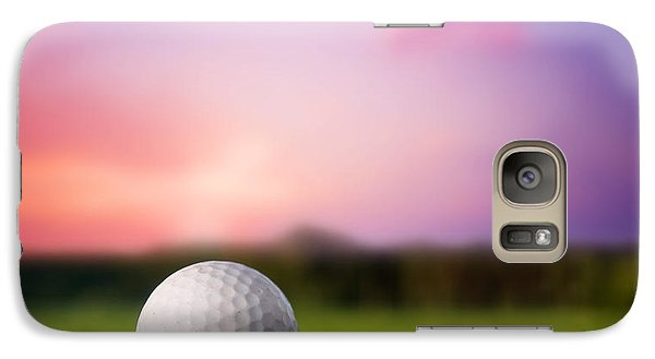 Golf Ball On Tee At Sunset Galaxy S7 Case by Michal Bednarek