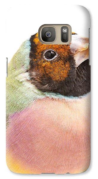Gouldian Finch Erythrura Gouldiae Galaxy S7 Case by David Kenny