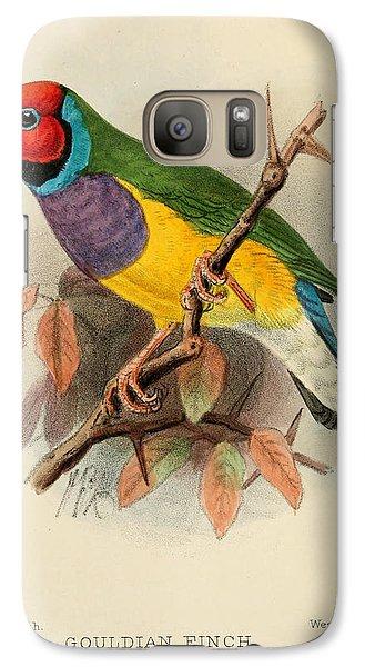 Gouldian Finch Galaxy Case by J G Keulemans