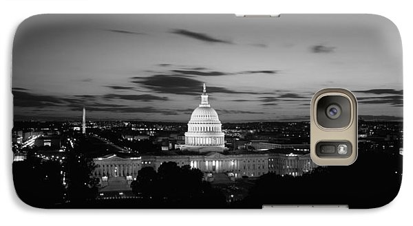 Government Building Lit Up At Night, Us Galaxy Case by Panoramic Images