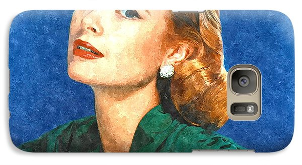 Grace Kelly Painting Galaxy Case by Gianfranco Weiss