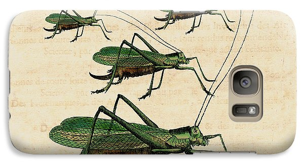 Grasshopper Parade Galaxy Case by Antique Images