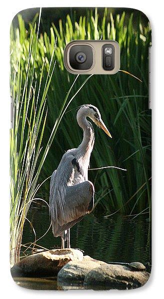 Great Blue Heron Galaxy S7 Case by Ellen Henneke