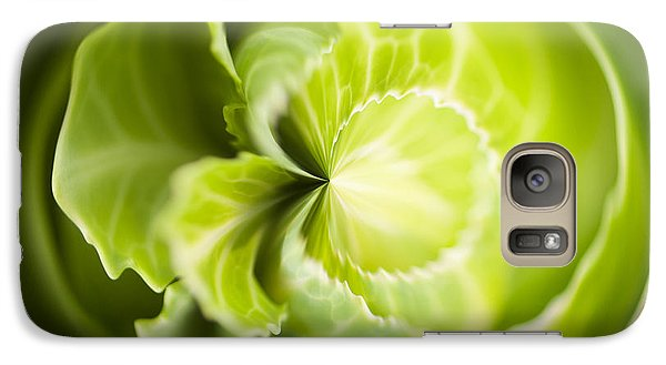 Green Cabbage Orb Galaxy Case by Anne Gilbert
