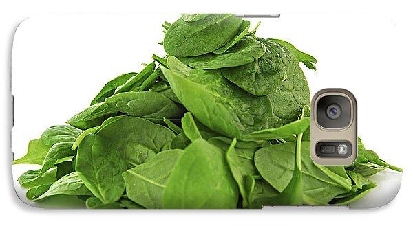 Green Spinach Galaxy Case by Elena Elisseeva