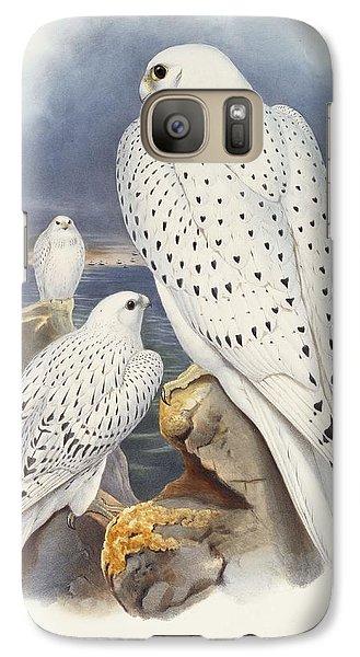 Greenland Falcon Galaxy S7 Case by John Gould