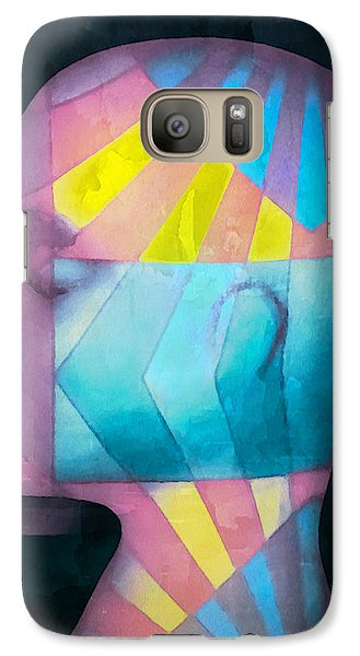 Grid Head Galaxy Case by Jeff  Gettis