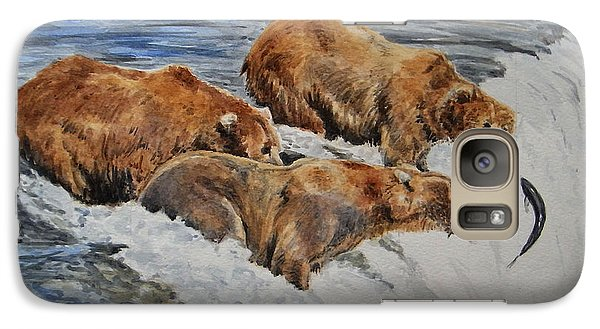 Grizzlies Fishing Galaxy Case by Juan  Bosco