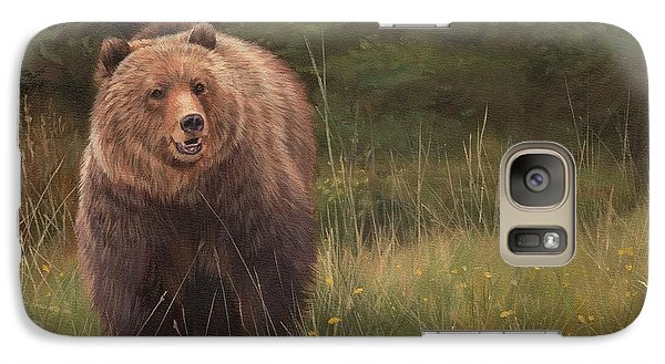 Grizzly Galaxy S7 Case by David Stribbling