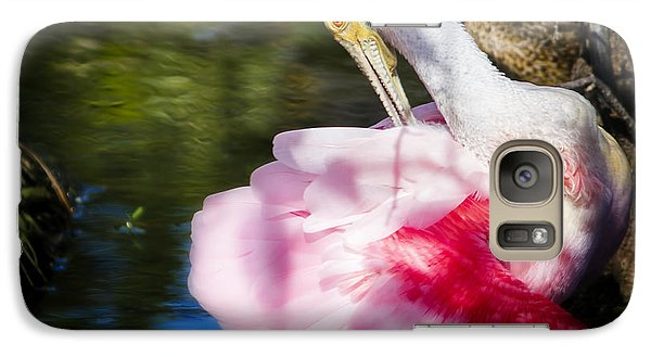 Preening Spoonbill Galaxy S7 Case by Mark Andrew Thomas
