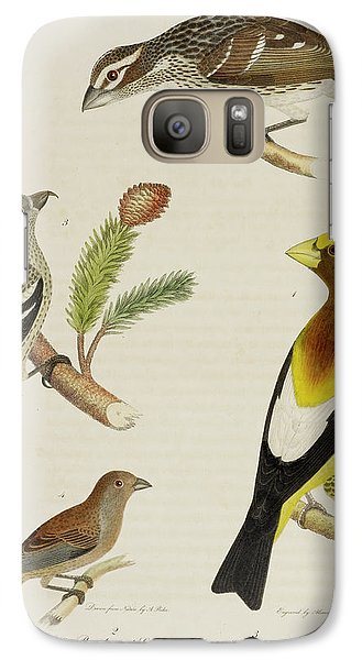 Grosbeak And Crossbill Galaxy S7 Case by British Library