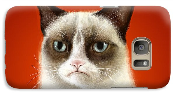 Grumpy Cat Galaxy S7 Case by Olga Shvartsur