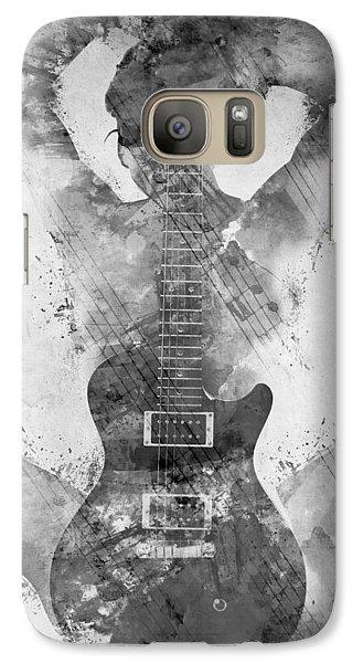 Guitar Siren In Black And White Galaxy Case by Nikki Smith