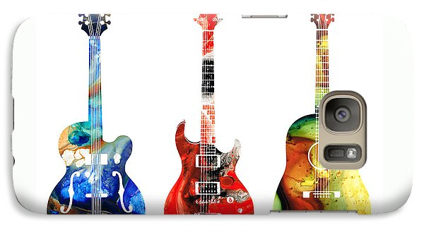 Guitar Threesome - Colorful Guitars By Sharon Cummings Galaxy S7 Case by Sharon Cummings