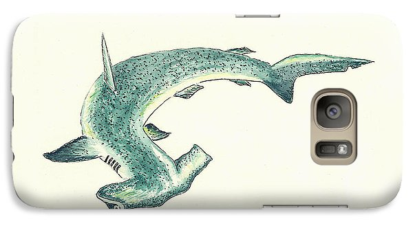 Hammerhead Shark Galaxy Case by Michael Vigliotti
