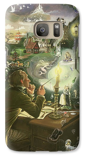 Hans Christian Andersen Galaxy Case by Anne Grahame Johnstone