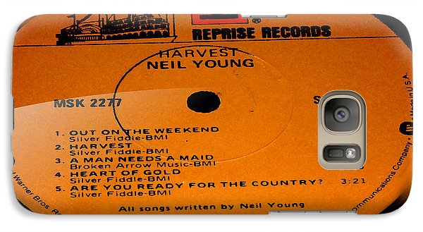 Harvest - Neil Young Side 1 Galaxy Case by Marcello Cicchini