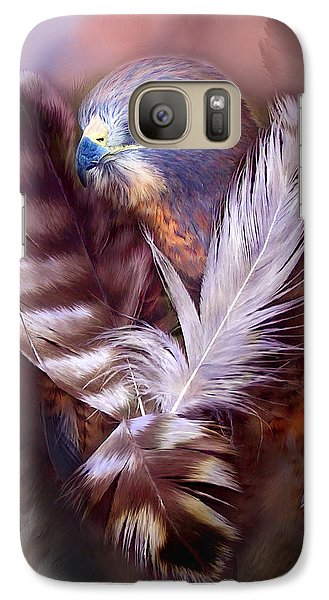 Heart Of A Hawk Galaxy Case by Carol Cavalaris