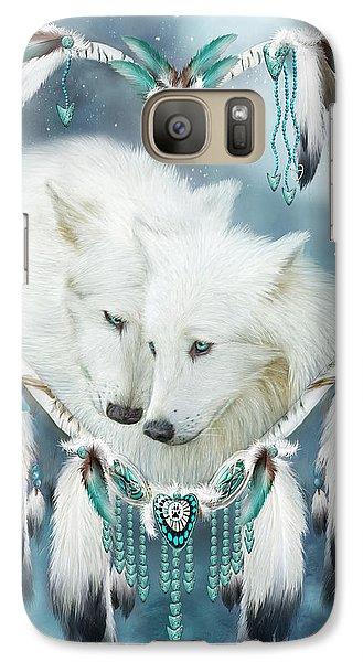 Heart Of A Wolf Galaxy S7 Case by Carol Cavalaris