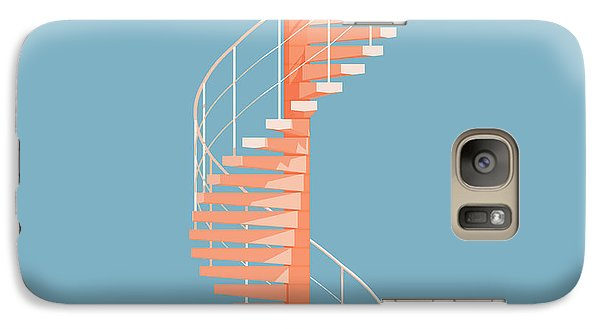 Helical Stairs Galaxy Case by Peter Cassidy