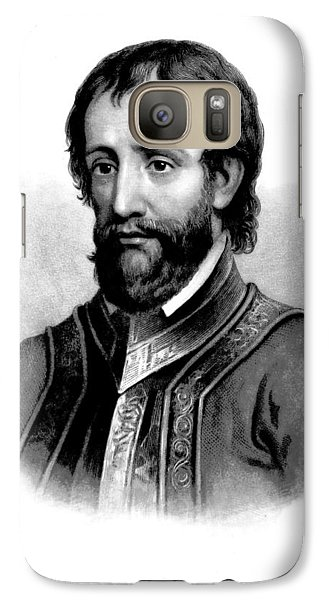 Galaxy Case featuring the photograph Hernando De Soto, Spanish Conquistador by British Library