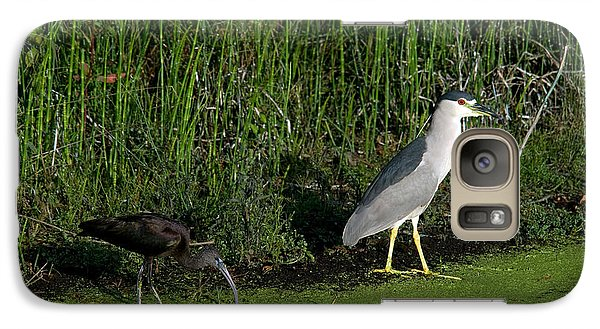 Heron And Ibis Galaxy Case by Mark Newman