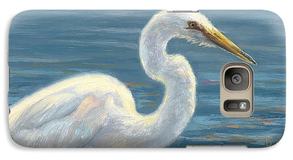 Heron Light Galaxy Case by Lucie Bilodeau