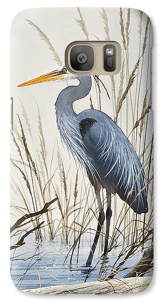 Herons Natural World Galaxy Case by James Williamson