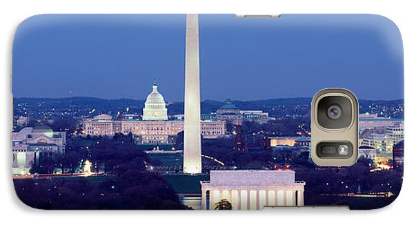 High Angle View Of A City, Washington Galaxy Case by Panoramic Images