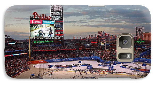 Hockey At The Ballpark Galaxy Case by David Rucker