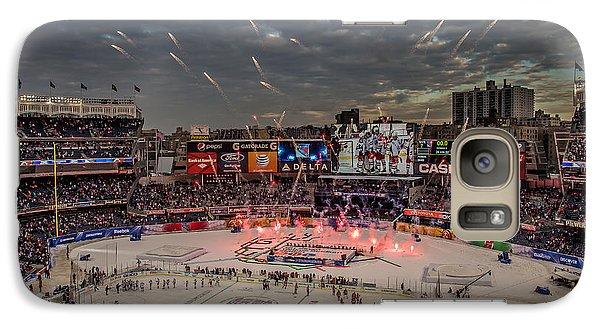 Hockey At Yankee Stadium Galaxy Case by David Rucker