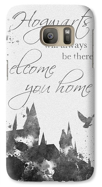 Hogwarts Quote Black And White Galaxy S7 Case by Rebecca Jenkins