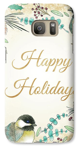 Holiday Wishes II Galaxy Case by Elyse Deneige