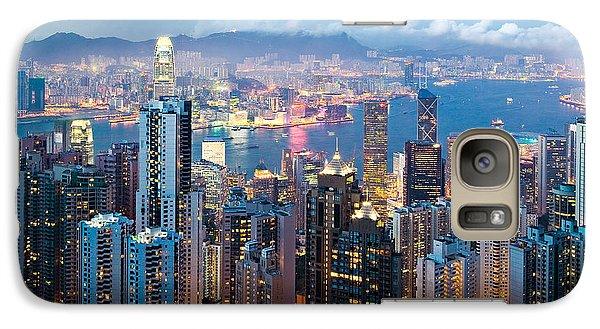 Hong Kong At Dusk Galaxy Case by Dave Bowman