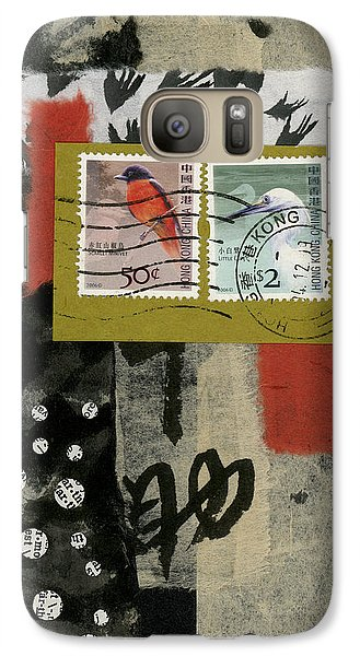 Hong Kong Postage Collage Galaxy Case by Carol Leigh