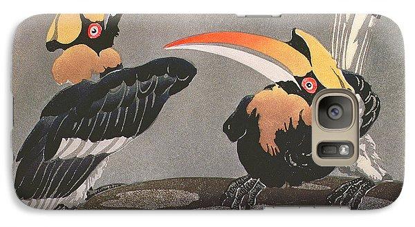 Hornbills Galaxy Case by Ethleen Palmer