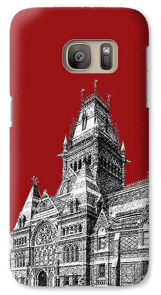 Harvard University - Memorial Hall - Dark Red Galaxy S7 Case by DB Artist