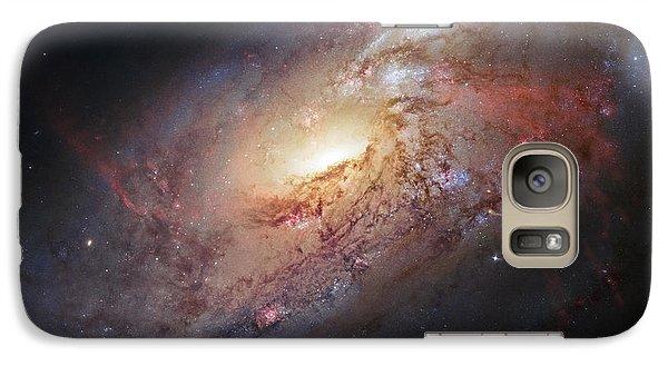 Hubble View Of M 106 Galaxy S7 Case by Adam Romanowicz