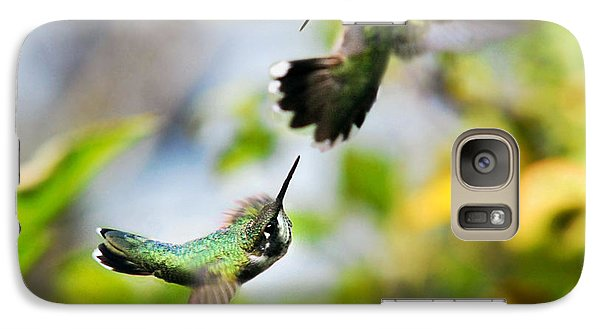 Hummingbirds Ensuing Battle Galaxy Case by Christina Rollo