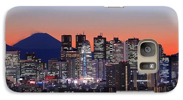 Iconic Mt Fuji With Shinjuku Skyscrapers Galaxy S7 Case by Duane Walker