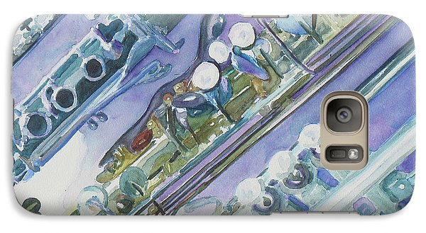 I'm Still Painting On The Keys Galaxy Case by Jenny Armitage