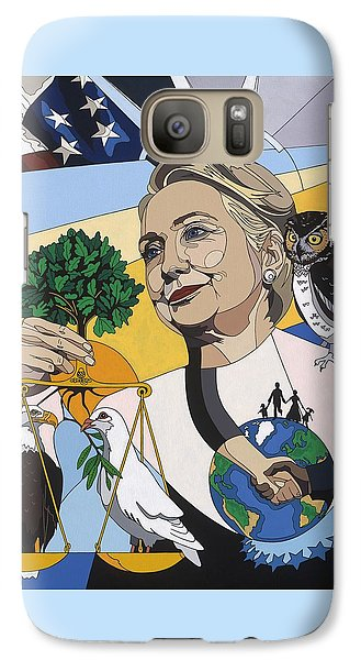 In Honor Of Hillary Clinton Galaxy Case by Konni Jensen