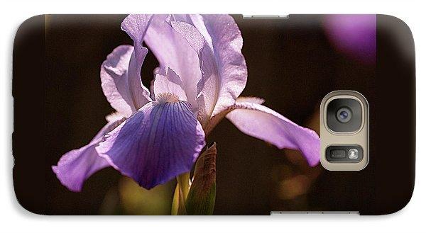 Iris Aglow Galaxy Case by Rona Black