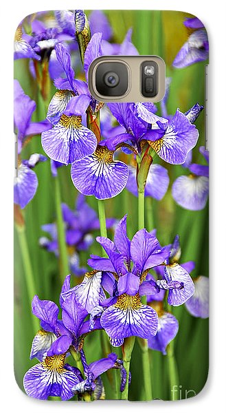 Irises Galaxy Case by Elena Elisseeva
